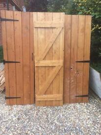 Pine cupboard wardrobe doors x3