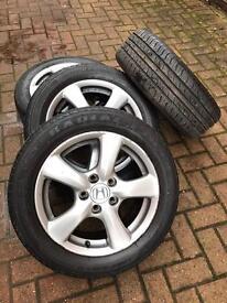 "*******Honda Civic mk8 16"" alloy wheels and good tyres******"