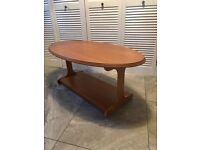 Retro style oval coffee table