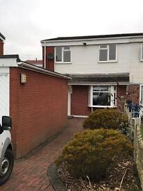 Three bed semi detached house to rent mevagissey Sutton Park Runcorn
