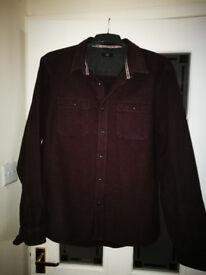 Warm wooly Mens long sleeved shirt
