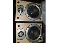 GRUNDIG WOODEN bookshelf speakers Used in mint condition