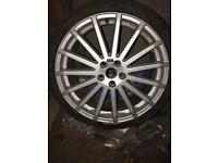 Ford Focus RS 19 inch alloy and tyre
