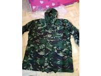 Army camouflage flack jacket size large