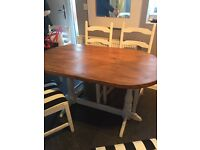 Solid pine shabby style dining table