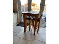 Tall breakfast table solid oak