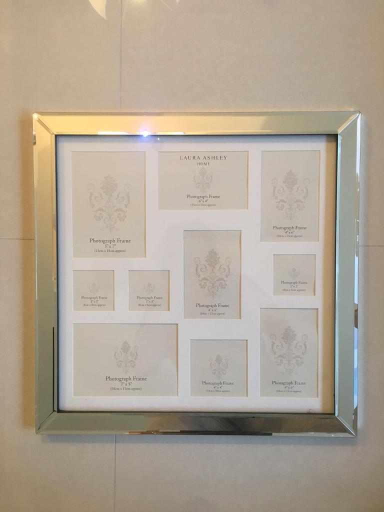Laura Ashley Mirrored Collage Photo Frame
