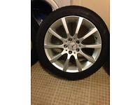 Mercedes 17 inch alloys and tyres