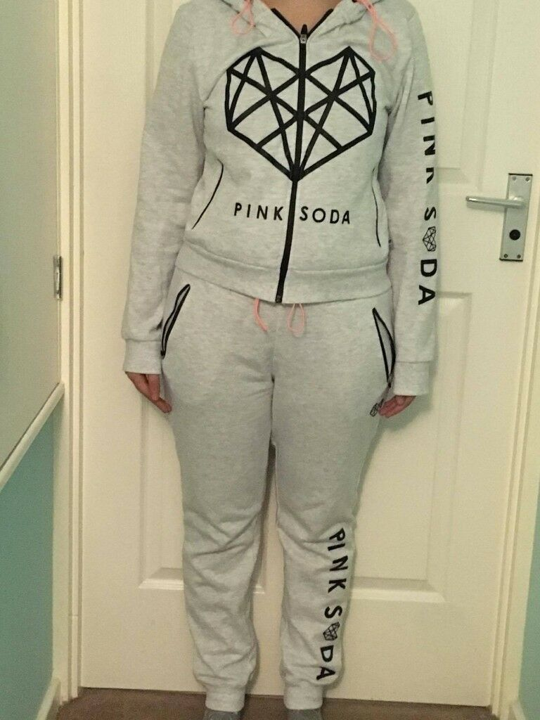 Pink soda hoody and tracksuit