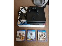 Sony PS4 1TB with cables, controller and 3 games
