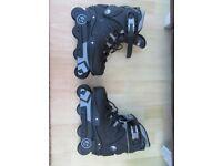 Zinc Black Roller Boots Size 6