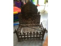 Fireplace Grate & Backing Plate