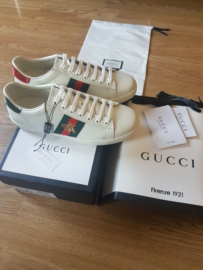 11da071fc Gucci classic Mens Womens Unisex Ace Bee Embroidery sneakers ...