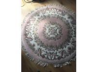 Wool floral rug