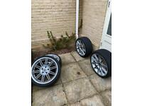 Genuine BMW M sport 19 INCH Staggered Alloys ***2 FAULTY***