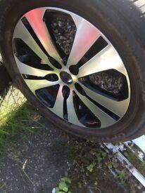 """KIA Sportage 5 twin spoke 18"""" inch Diamond Cut Alloy Wheel 7jx18 ET40.5"""