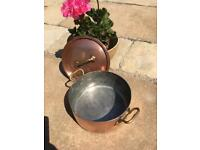 Wonderful rustic French copper pan