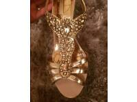 Rose gold heels size 5