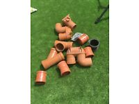 Job lot of drainage and drainage pipe