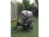 Selling Phil & Teds Navigator V2 Double buggy with auto-stop £300 - excellent condition, all extras