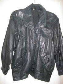 Ladies genuine leather jacket, size 12 - 14