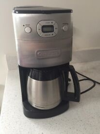 Cuisinart DGB-650BC Grind-and-Brew Thermal 10-Cup Automatic Coffeemaker, Brushed Metal - barely used