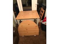 Ikea fold out table and chair
