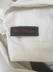 Miss Selfridge white dress with black mesh