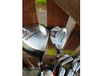 Clubs titlest set plus 2 Taylor made drivers