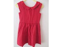 George Red Spotted Dress