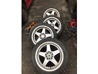 Alloy Wheels with tyres 17 inch Multi-stud will fit many cars