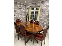 For sale Dining table with 6 chairs