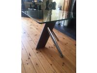 Glass / Wood side table (6 months old) / Lamp Table