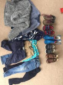 Boys clothes and shoes 18-24, 2-3