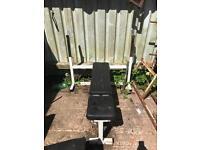 Bench press , adjustable bench