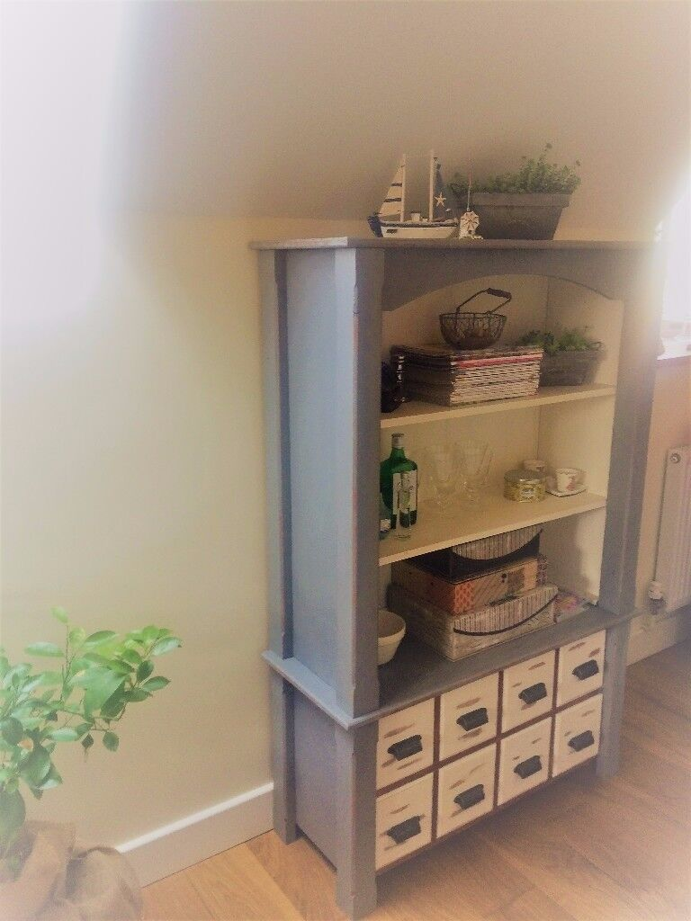 Vintage, shabby chic, industrial bookcase, display unit
