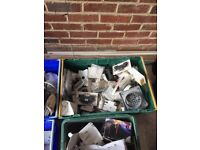 2 boxes of guttering clips. Fittings and corners. Grab a bargain