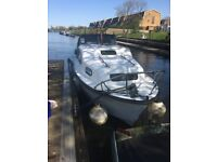 Cabin cruiser 4 berth Freeman mk 1 Great starter boat on the thames fully licenced and certificated