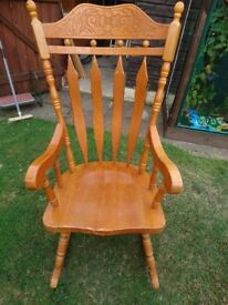 Large Rocking Chair, solid pine