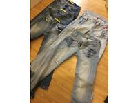 River island jeans x 5 pairs all size 8