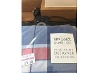 New King size duvet cover and two pillowcase
