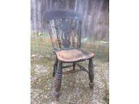 Rustic country style kitchen chair