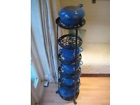 Le Creuset Stoneware Gratin Dish in Marseilles Blue & 7 Tier Pot-stand