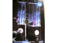 Brand New, Pair USB Dancing water speakers. For use Laptop/PC, Smartphone, Gaming