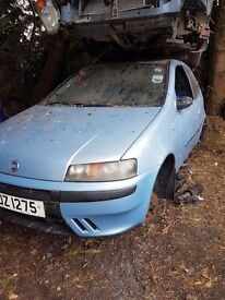 2002 FIAT PUNTO 1.2 PETROL BREAKING FOR PARTS