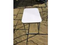Silver folding camping table