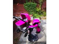 PRAM, CAR SEAT, BUGGY, ALL IN ONE, VERY GOOD CONDITION