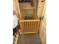 Childs cot and mattress