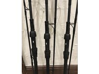 Nash black ops 9ft 3.5tc carp rods