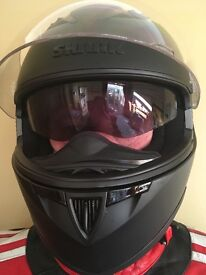 Full motorcycle kit including helmet jacket Kevlar jeans and boots